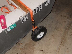 Close up of one of the wheels.