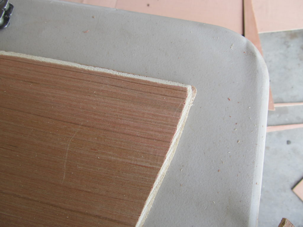 Details of chamfer on butt blocks.